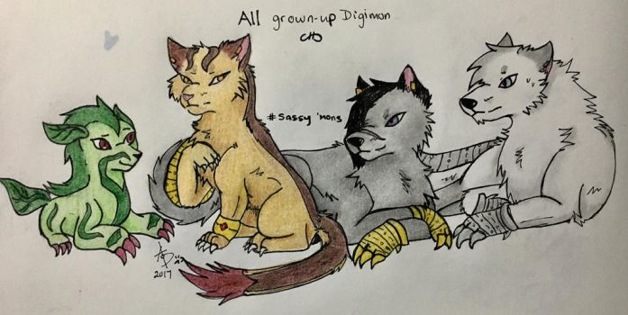 Not So Little Digimon by alphaofdarkness