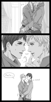 Merlin/Arthur by t0teki