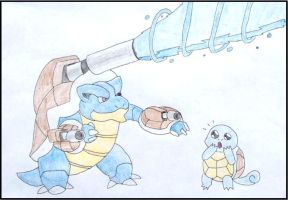 Mega Blastoise! 3 Cannons are better than two by WalkerP