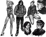 Recent sketches of people by Vetyr