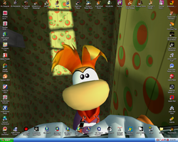 Desktop with Rayman TAS Icons by kelvin8