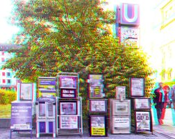 Newspapers :: Anaglyph HDR 3D :: by zour