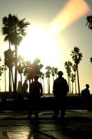 Venice Beach Silhouetted by JonnyBalls