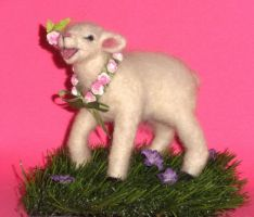 Needle Felted Lamb by Kathiej