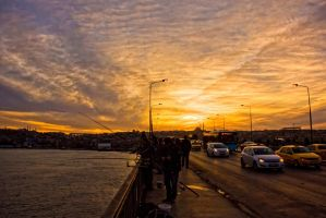 Sunset, Fishers,Traffic by WhiteWay
