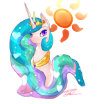 MLP Princess Portrait series~ Princess Celestia by vanilla-button
