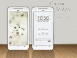 Cream Screen by vanessaem