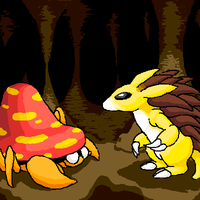 A Parasect and Sandslash by Jaydeis