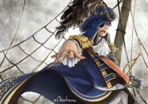 Kaito as Captain Hook~ by Cleochrome