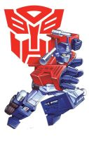 80s Retro Optimus prime by Dan-the-artguy