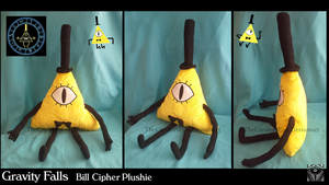 Gravity Falls - Bill Cipher Plush by TheCreatorsEye