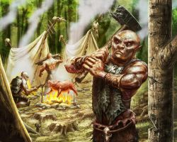 Orc Camp by CBSorgeArtworks