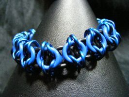 blue celtic vision bracelet by BacktoEarthCreations