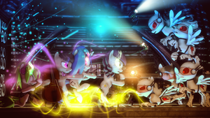 The Musical Onslaught by SourceRabbit
