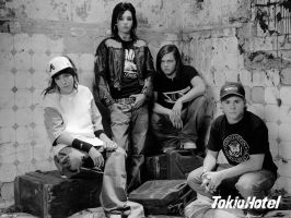 Vintage Tokio Hotel Wallpaper by Nohrxinna