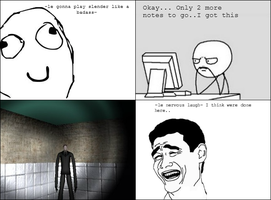 Me playing Slender.. o3o by KittyCreator