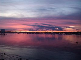Salem Bay from Salem Willows by Peter-Pine