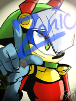 Zonic the Zone Cop by DawnValentine101
