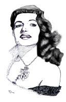 Rita Hayworth Sketch by M41C0N