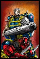 Cable and Deadpool rough color by PhillieCheesie