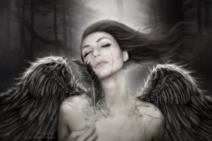 When Angels Break I by GinAngieLa