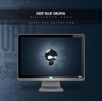 Deep Blue Drupal Wallpaper by TheAL