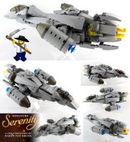 Miniature LEGO Serenity Ship by VonBrunk