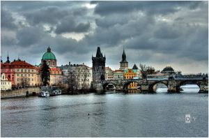 Prague, Charles Bridge by Jazzoline