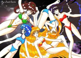 Sailor Senshis by Hades-Leon