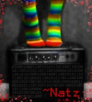 Rainbow Socks and Amp - my ID by littlenatnatz101