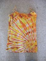 Tie Dye tank Top Orange Burst by Spudnuts