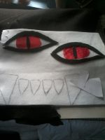 Kyuubi Cosplay WIP: Eyes (2) by MiyuKaitero88