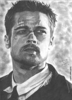 Brad Pitt portrait by RogueDerek