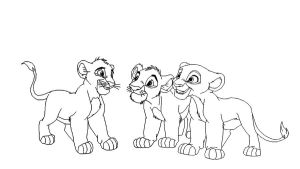 3 Lion Cubs Baase by ScarzDaughter