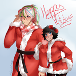 Rin and Sunny: Merry Christmas by Sogequeen2550