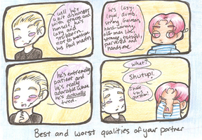 what are the best worst qualities of your partner? by ask-2pgerita
