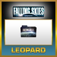 Leopard Falling Skies Folder by TMacAG