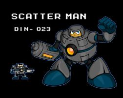 Scatter Man by erik-red