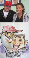 caricature- red hat face meld by chrisCHUA