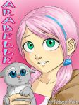 Arabelle- Art trade with EmilyFeathers204 by The-Tabbycat-Witch