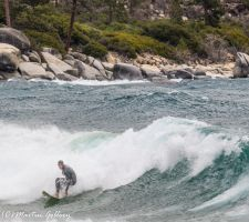 Sand Harbor surfing150206-216 by MartinGollery