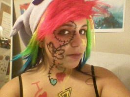 Experiment with Face paint 4 by Death-By-Insanity