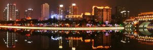 Chengdu at night by sheevahskuld
