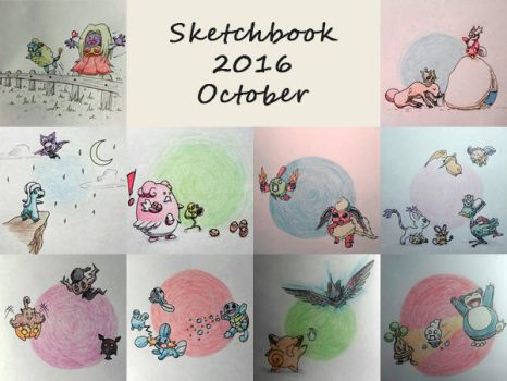 Sketchbook 2016 - October by Charmyto
