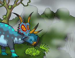 Diabloceratops Among the Heavens by DaBrandonSphere