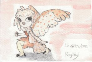 Fairy owl -colo- by Ragdowl