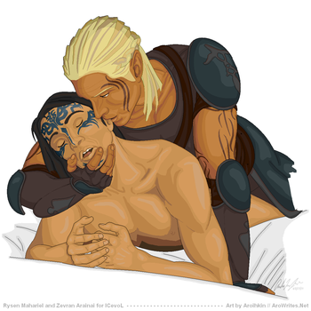 Commission: Zevran and Rysen by Aroihkin