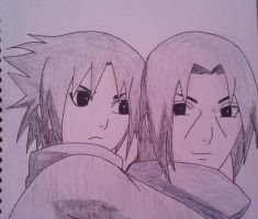 Young Itachi and Sasuke {1} by Britney151