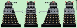 AARU Invasion Black Dalek by Librarian-bot