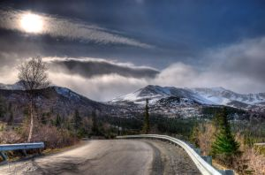 HDR mountain road by Djohns